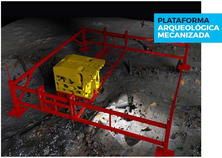Plataforma mecanizada, imagen tomada de Marinearchaeology.ch